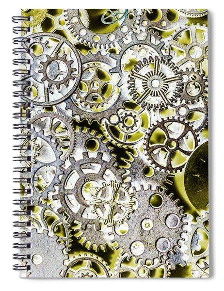 Metallic Motor Mechanisms Spiral Notebook