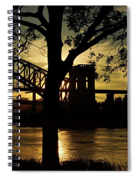 Mid Autumn Silhouette Spiral Notebook