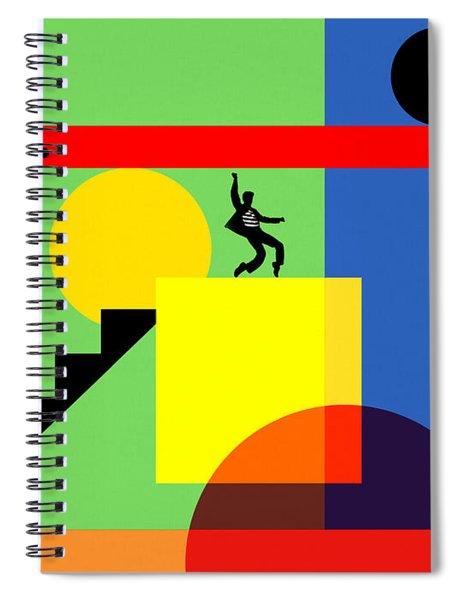 Mid Century Modern Abstract Elvis 20190106 Horizontal Spiral Notebook