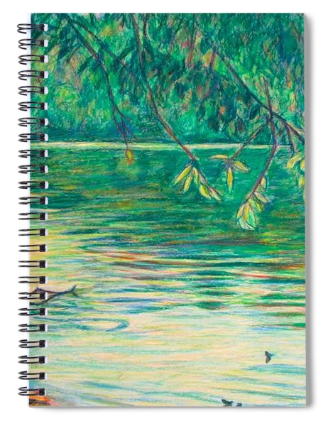 Mid-spring On The New River Spiral Notebook