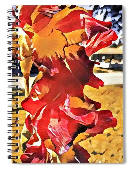 Midcentury Floral Print 001 Spiral Notebook