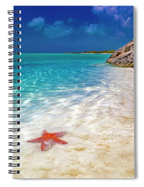 Middle Caicos Tranquility Awaits Spiral Notebook