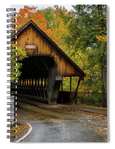 Middle Covered Bridge - Woodstock Vermont Spiral Notebook