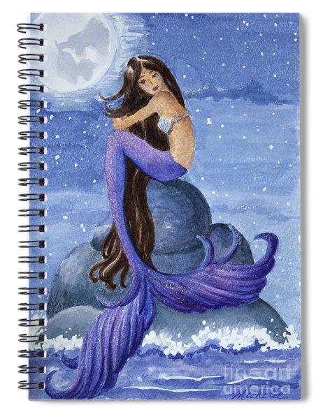 Midnight Mermaid Spiral Notebook