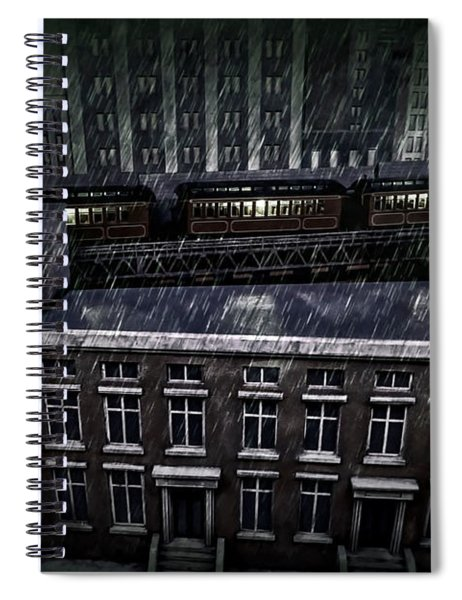 Midnight Train Spiral Notebook