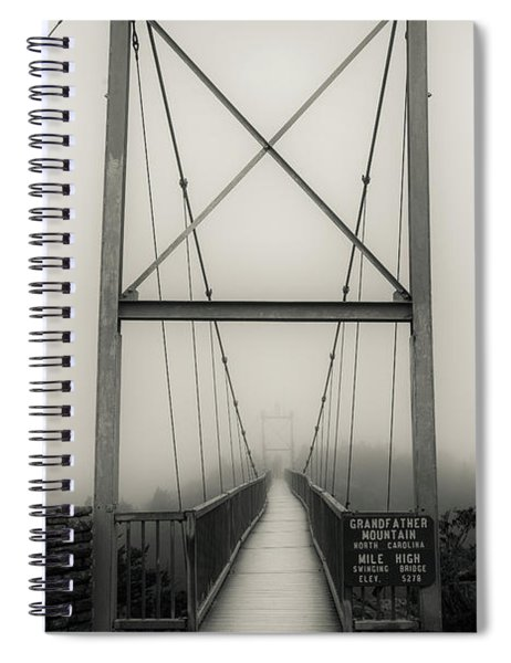 Mile High Swinging Bridge - Grandfather Mountain Spiral Notebook