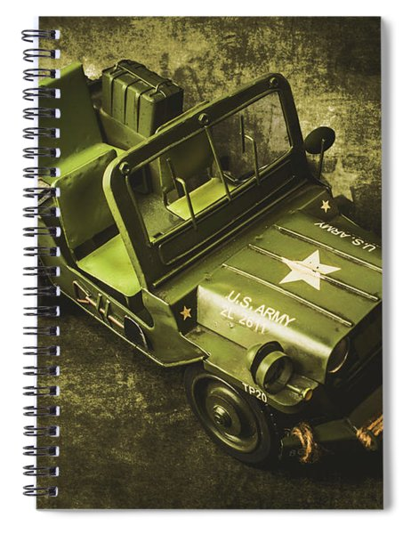 Military Green Spiral Notebook