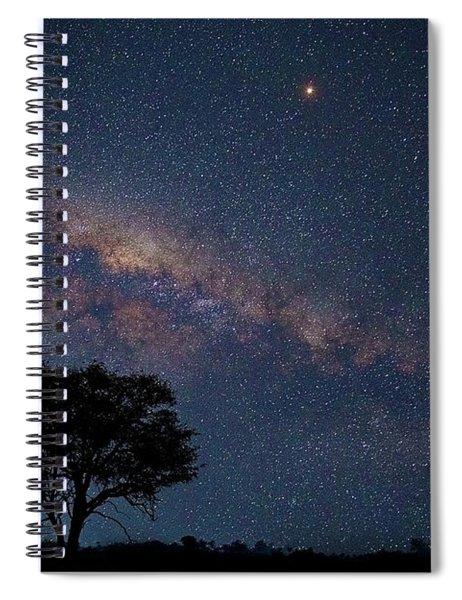 Milky Way Over Africa Spiral Notebook