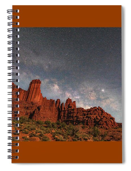 Milky Way Over Fisher Towers Spiral Notebook