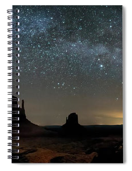 Milky Way Over Monument Valley Spiral Notebook