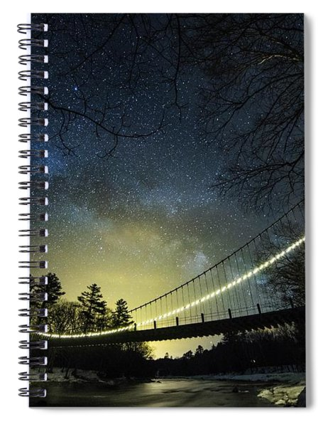Milky Way Over The Wire Bridge Spiral Notebook