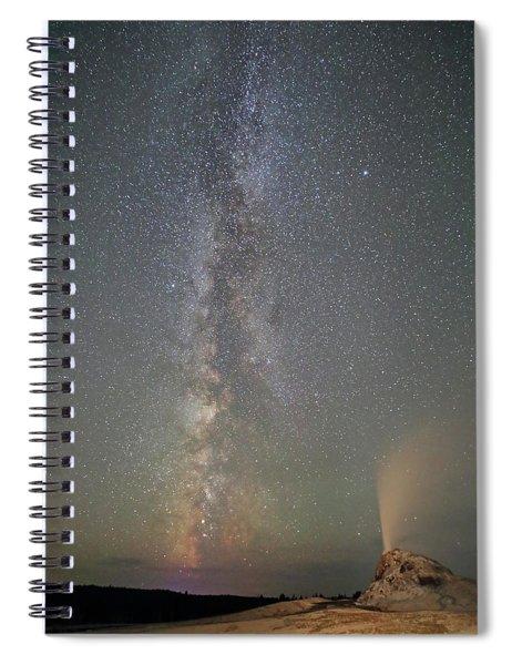 Milky Way Over White Dome Geyser Spiral Notebook