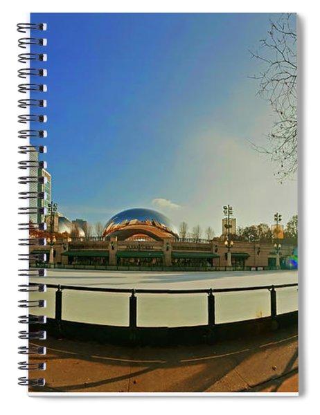 Millennium Park Mccormick Tribune Ice Rink Jele3642 Spiral Notebook