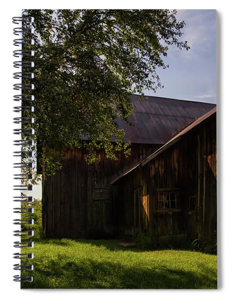 Spiral Notebook featuring the photograph Miller Barn 1 by Heather Kenward