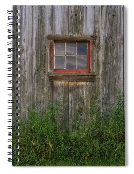 Spiral Notebook featuring the photograph Miller Barn 4 by Heather Kenward