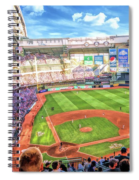 Miller Park Milwaukee Brewers Baseball Ballpark Stadium Spiral Notebook