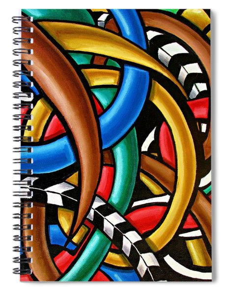 Colorful Abstract Art Painting Chromatic Intuitive Energy Art - Ai P. Nilson Spiral Notebook