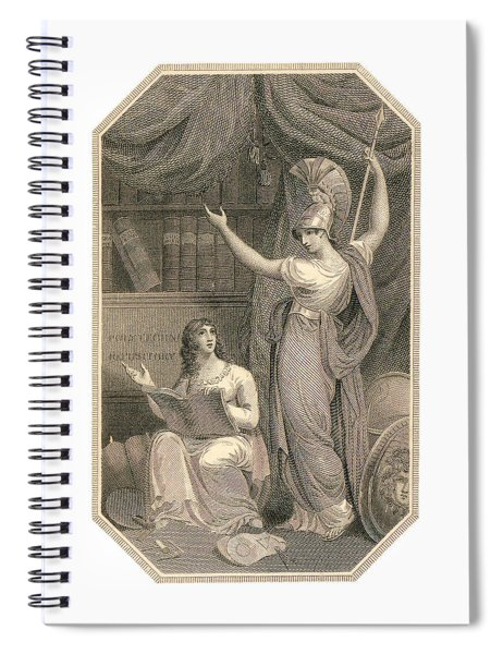 Minerva Directing Study To The  Attainment Of Universal Knowledge Spiral Notebook