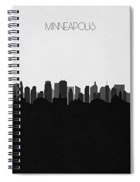 Minneapolis Cityscape Art V2 Spiral Notebook