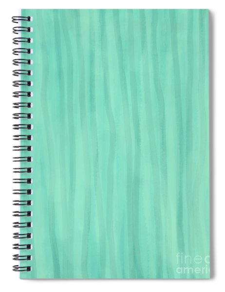 Mint Green Lines Spiral Notebook
