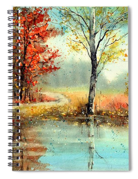 Mirror In The Lake Spiral Notebook