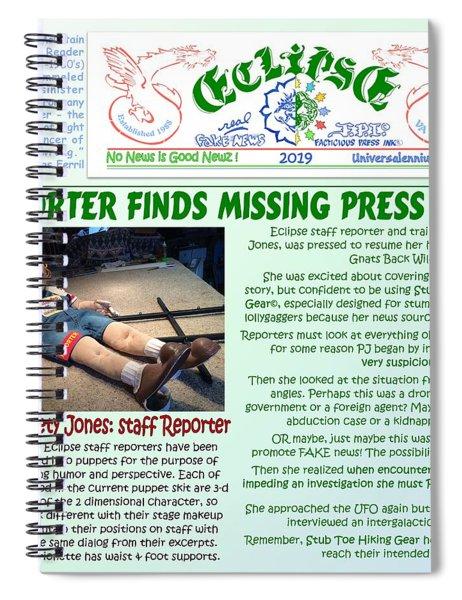 Missing Press Pass Spiral Notebook