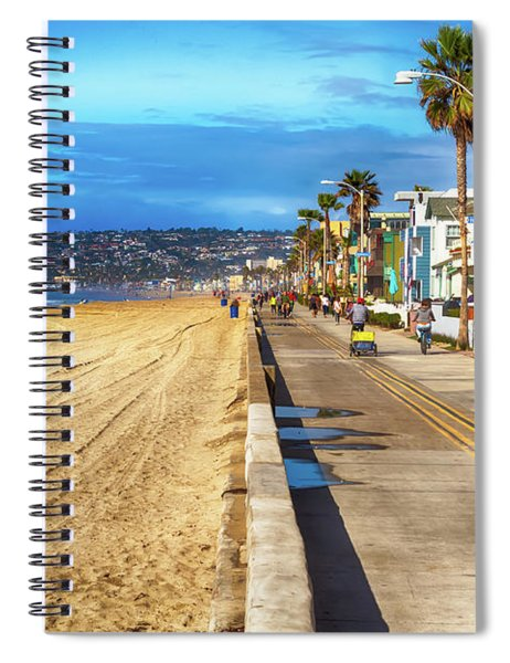 Spiral Notebook featuring the photograph Mission Beach Boardwalk by Alison Frank