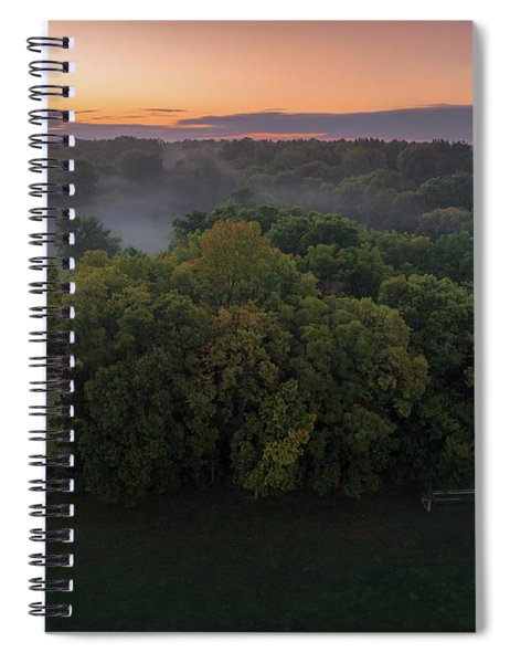 Mist In The Trees Spiral Notebook