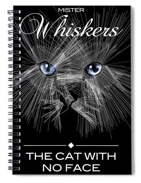 Spiral Notebook featuring the digital art Mister Whiskers by ISAW Company