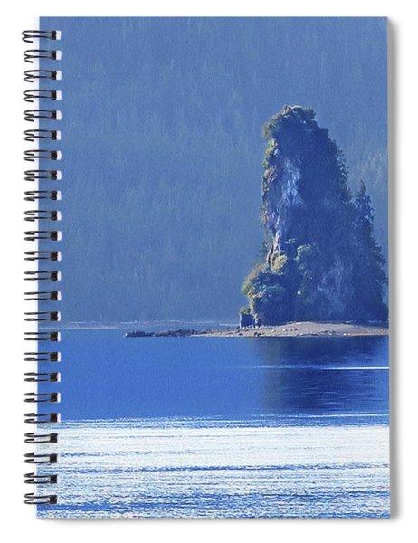 Misty Fjords Eddystone Rock Spiral Notebook