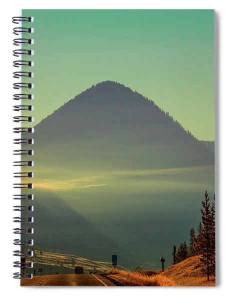 Misty Mountain Morning Spiral Notebook