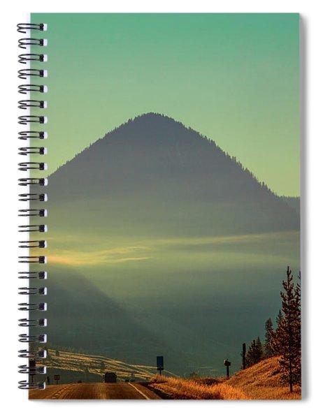 Misty Mountain Morning Spiral Notebook