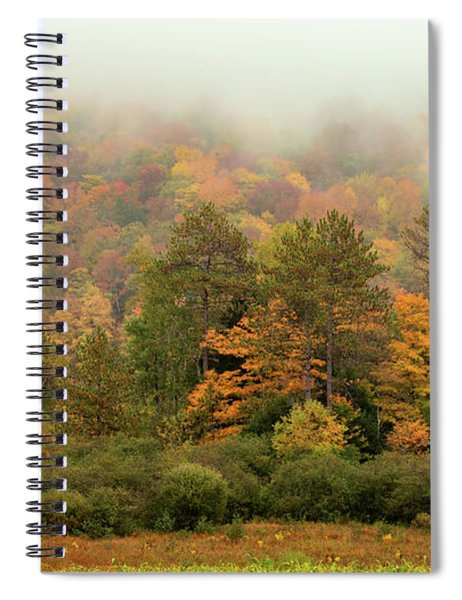 Spiral Notebook featuring the photograph Misty Mountain by Rod Best