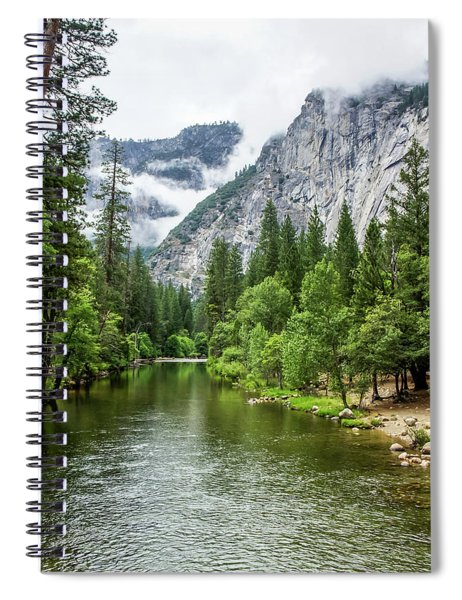 Misty Mountains, Yosemite Spiral Notebook