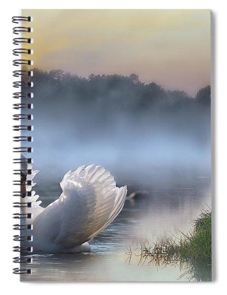 Misty Swan Lake Spiral Notebook