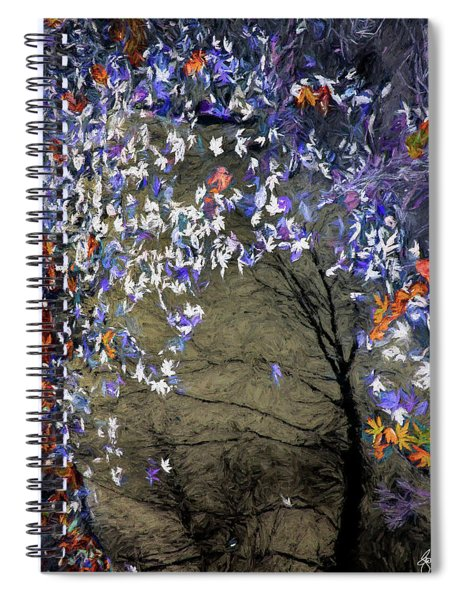 Mixed Maples In An Autumn Pool Spiral Notebook
