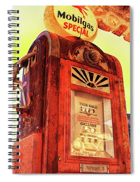 Mobilgas Special - Vintage Wayne Pump Spiral Notebook
