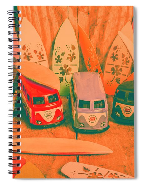 Modelling A Surfing Vacation Spiral Notebook