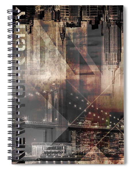Modern Art Manhattan Skylines Spiral Notebook by Melanie Viola