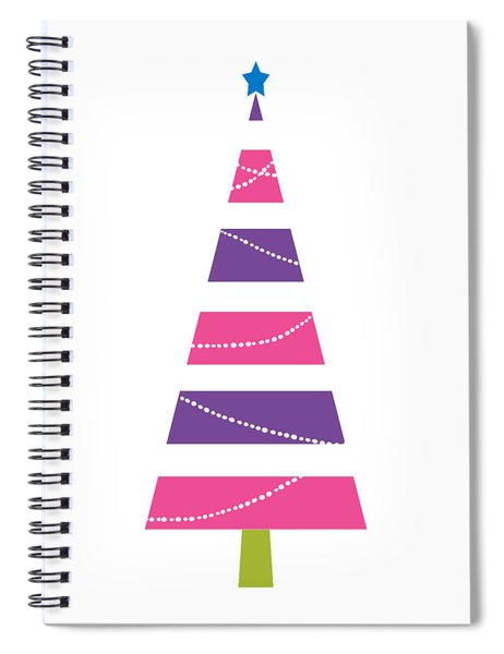 Modern Glam Christmas Tree 1- Art By Linda Woods Spiral Notebook
