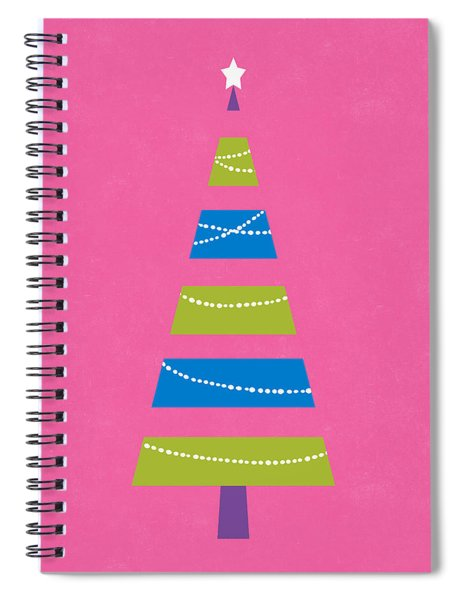 Modern Glam Christmas Tree 2- Art By Linda Woods Spiral Notebook