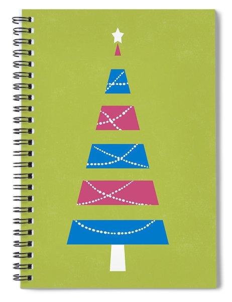 Modern Glam Christmas Tree 3- Art By Linda Woods Spiral Notebook