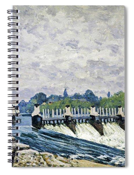 Molesey Weir, Hampton Court, 1874 Spiral Notebook