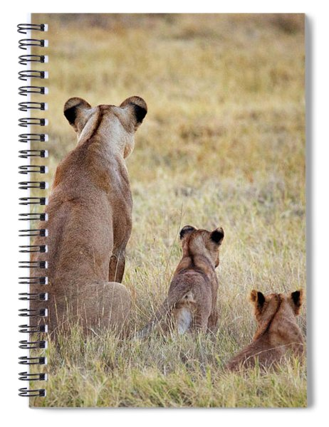 Mom And Cubs Spiral Notebook