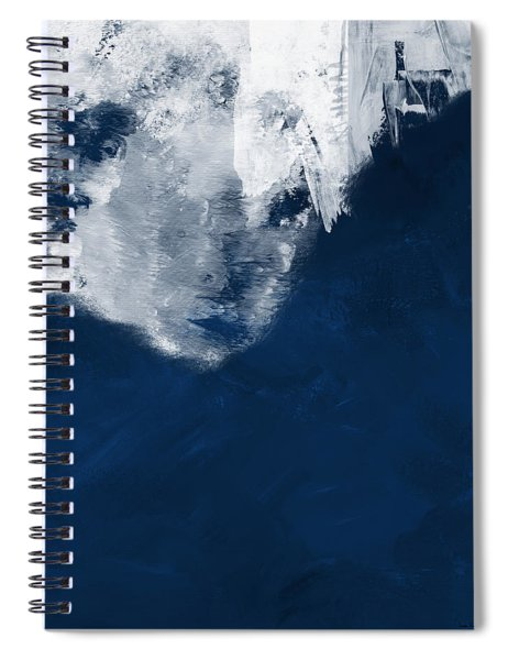 Moment In Blue- Art By Linda Woods Spiral Notebook