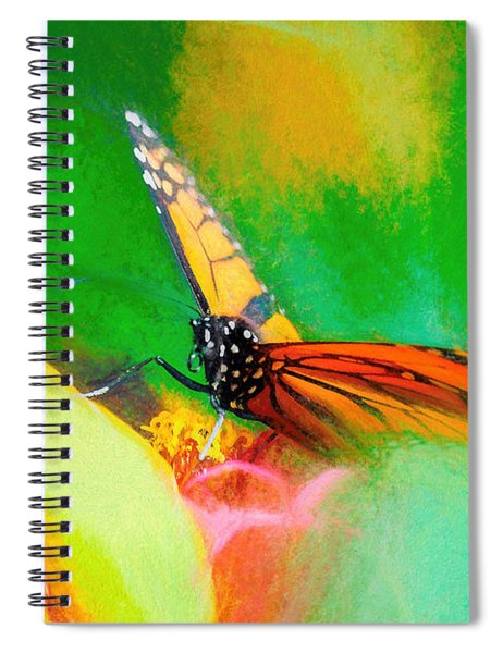 Monarch Butterfly Beautiful Smudge Spiral Notebook
