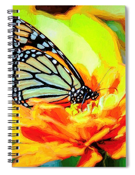 Monarch Butterfly Van Gogh Style Spiral Notebook