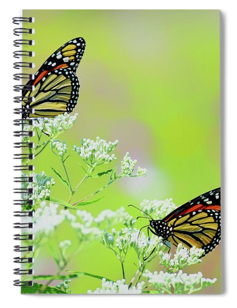 Monarchs In A Meadow Spiral Notebook