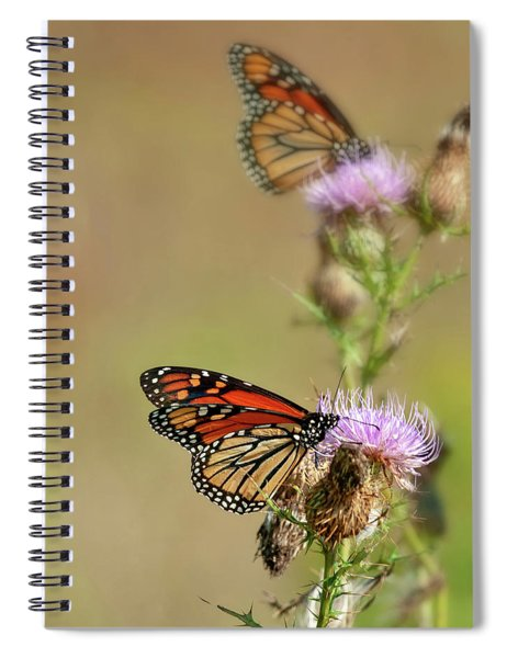 Monarchs In The Meadow Spiral Notebook