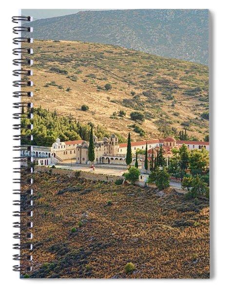 Monastery Agion Anargiron Above Argos Spiral Notebook